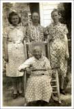 Julia Warden Coon, Hazel Laws Warner, Effie Coon, and Hester Bennett Coon