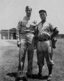 Joe DiMaggio and Harry Land