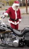 Santa rides a Harley!