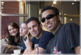 With friends at Chicago's most authentic restaurant: Chipotle
