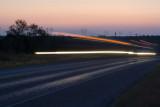 truck lights on US 380 east of Aspermont, TX