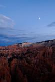 Moon on a Bryce Amphitheater at Dusk