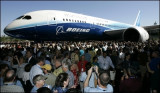 honolulu advertiser pic-7/8/07 -Boeing rolls out 787 Dreamliner 787.jpg