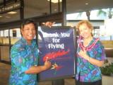 Aloha Sherry!  Enjoy the Friendly Skies of United!