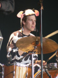 Drumming cow