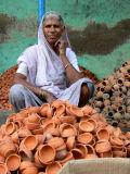 Ceramics saleslady