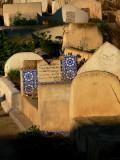 Jumble in cemetery