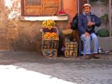 Farmer selling his goods