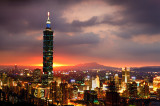 The Burning Taipei 101