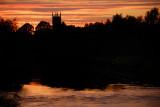 Derby Cathedral over River Derwent