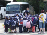 Featherdale Wildlife Park: Group of School kids