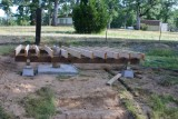 Footings in place and starting to look like a deck