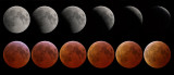 Eclipse sequence : partial & totality phases 03-Mar-07 20:52-23:57UT