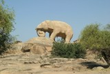 Elephant from a single rock