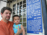 Outside the Khan Market branch of the State Bank of India