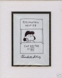 Check out this (likely) Schulz forgery that sold on eBay in April 2007 for $710.  'Charles' is misspelled as 'Charls'!