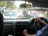 Another typically chaotic Delhi intersection