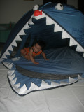 Rahil in his shark tent