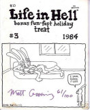 Life in Hell (bonus fun-fest holiday treat, #3, 1984) (signed and numbered)