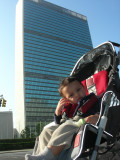 In front of the United Nations