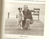 Addams and his dog, Alice B. Curr