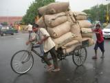 Heaps o' burlap sacks