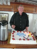 At his surprise 70th birthday party on June 24, 2007