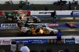 Nitro funny cars at dusk - 2