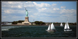 Sailers with lady Liberty