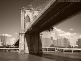 1024x768 Brooklyn Bridge Sepia