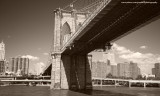 1280x768 Brooklyne Bridge Sepia