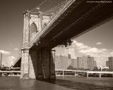 1280x1024 Brooklyn Bridge Sepia