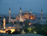 Hagia Sofia at dusk