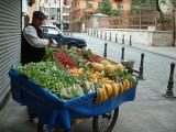Fruit cart in Istanbul