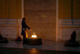 A cold evening at the Eternal Flame