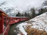 Red Swiss Train