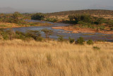 This side of the river is Shaba, the other side Samburu.  Joy's Camp