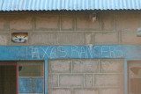 Texas Rangers - on a building in Shaba