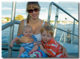 Sharon with Gabriel & Remy at Newstead