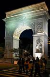 Washington Square Arch at night 01