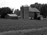Double Silo Barn