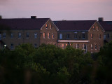 Fort Snelling With Setting Sun Windows