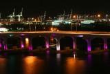 Purple Bridge in Miami Port