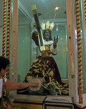 Touching the feet of the Black Nazarene in Quiapo