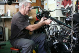 Don working on a nice Brough Superior