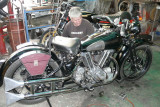 Side view of the Brough Superior