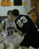 Seton Catholic Central's Boys Varsity Basketball Team versus Susquehanna Valley HS in the Section Four Tournament