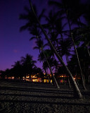 Night scene at Anaeho'omalu Beach