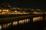 River scene at night, Kyoto