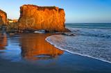 El Matador Beach rock at sunset